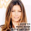 woman blow dry